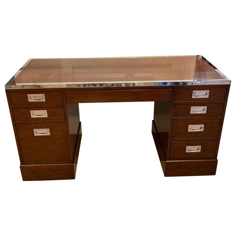 Kipp Stewart for Directional Special Order Campaign Desk, 6400-B For Sale