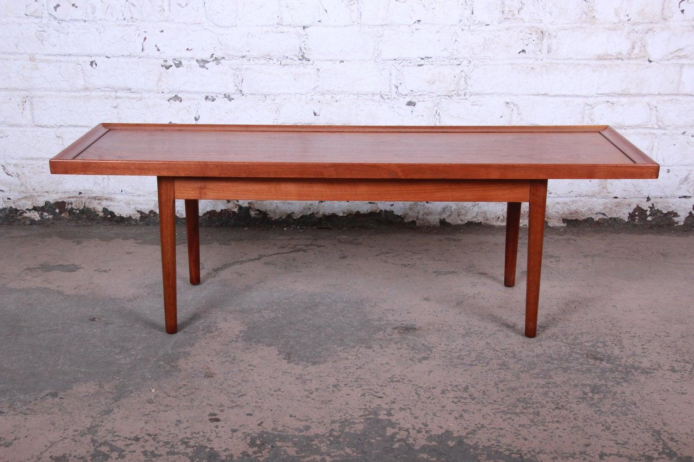 6b292339038cb Kipp Stewart for Drexel Declaration Mid-Century Modern Walnut Coffee Table
