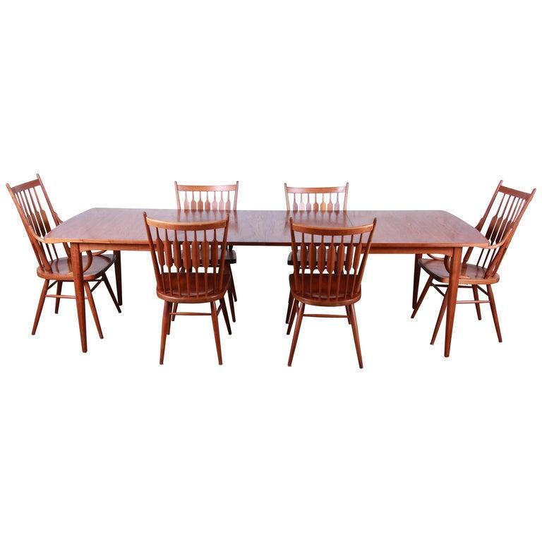 Kipp Stewart For Drexel Declaration Mid Century Modern Walnut Dining