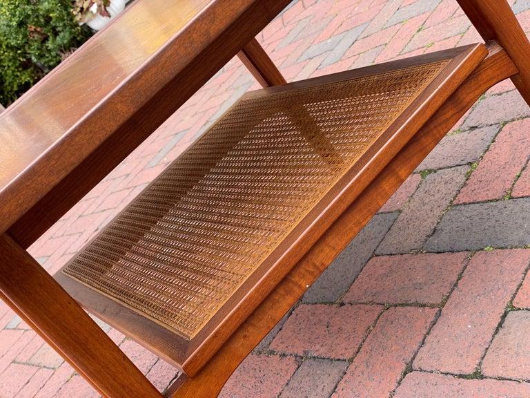Kipp Stewart for Drexel Declaration Square Walnut Coffee Table Side Table For Sale 3