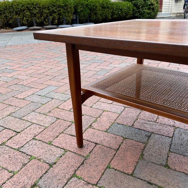 Kipp Stewart for Drexel Declaration Square Walnut Coffee Table Side Table For Sale 6