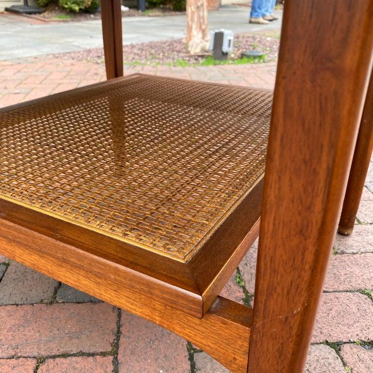 Kipp Stewart for Drexel Declaration Square Walnut Coffee Table Side Table For Sale 8