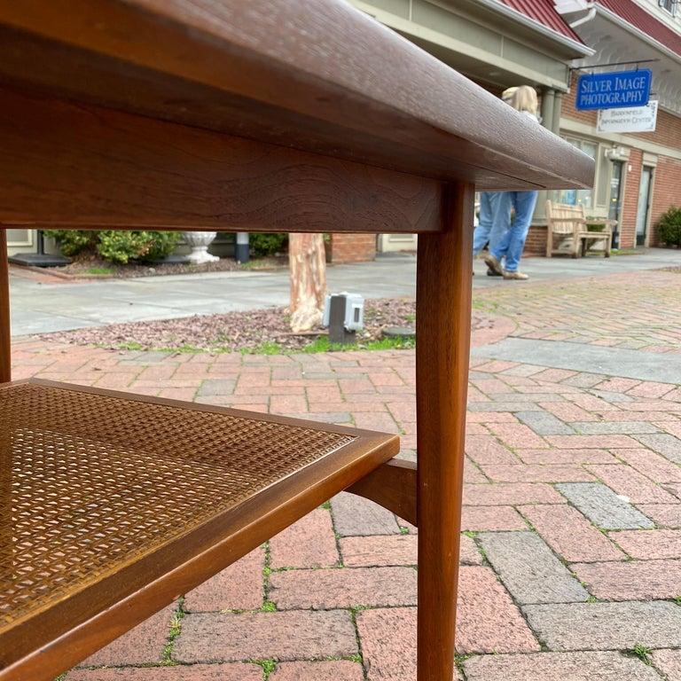 Kipp Stewart for Drexel Declaration Square Walnut Coffee Table Side Table For Sale 9