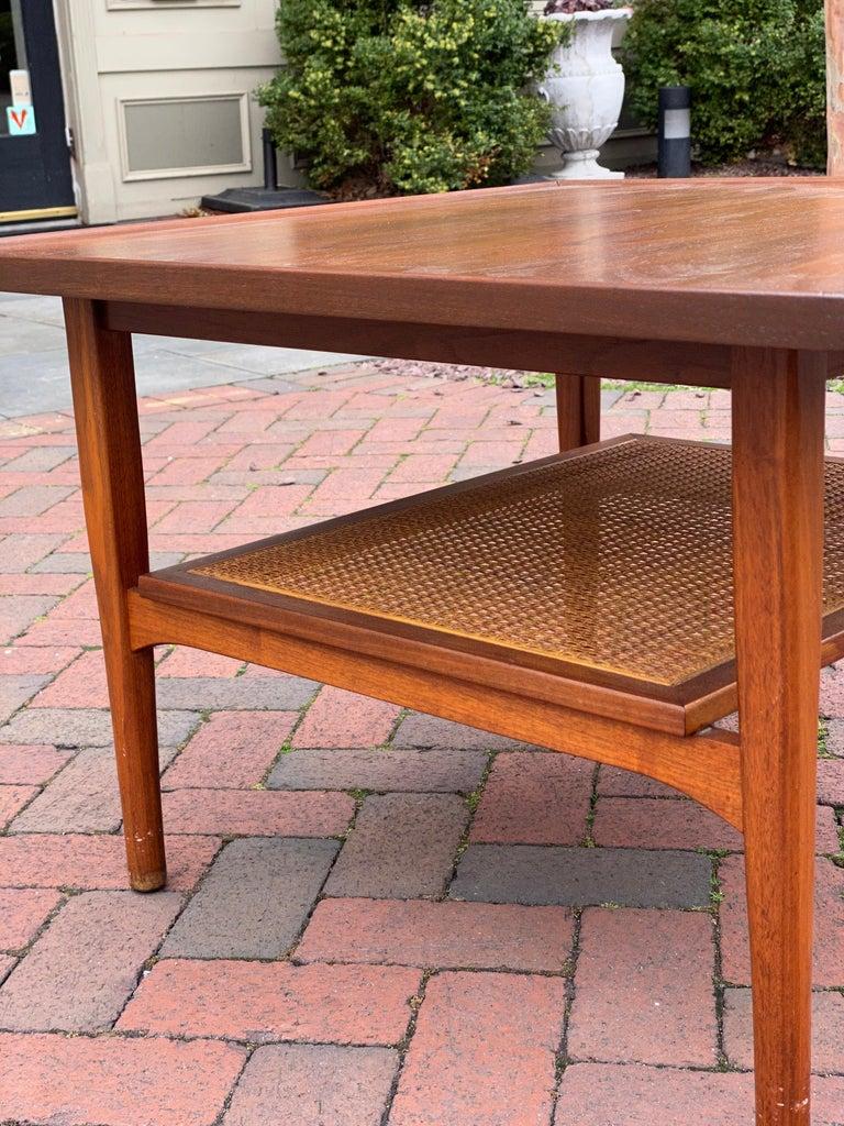 Kipp Stewart for Drexel Declaration Square Walnut Coffee Table Side Table For Sale 10