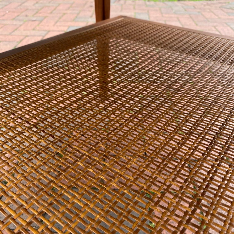 Wood Kipp Stewart for Drexel Declaration Square Walnut Coffee Table Side Table For Sale