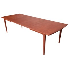 Kipp Stewart for Drexel Declaration Walnut Extension Dining Table, Refinished