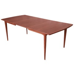 Kipp Stewart for Drexel Declaration Walnut Extension Dining Table, Restored