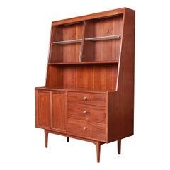 Kipp Stewart for Drexel Declaration Walnut Sideboard Hutch or Bar Cabinet, 1964