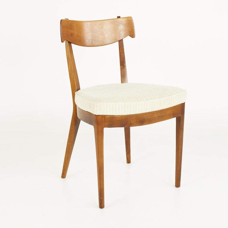 Kipp Stewart for Drexel Mid Century Walnut Dining Chairs - Set of 6 For Sale 3