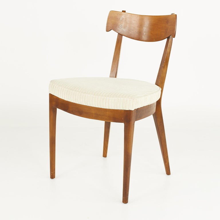 Kipp Stewart for Drexel Mid Century Walnut Dining Chairs - Set of 6 For Sale 4