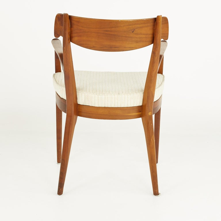Kipp Stewart for Drexel Mid Century Walnut Dining Chairs - Set of 6 For Sale 9
