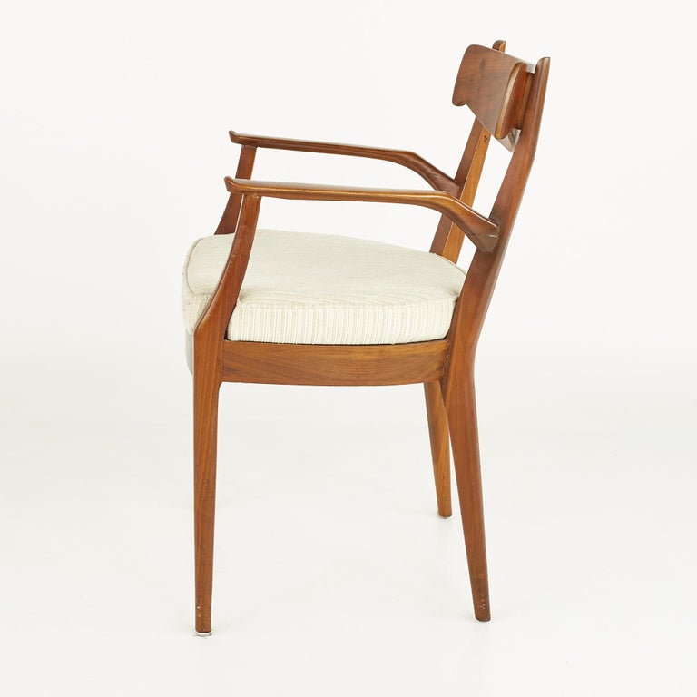 Kipp Stewart for Drexel Mid Century Walnut Dining Chairs - Set of 6 For Sale 10
