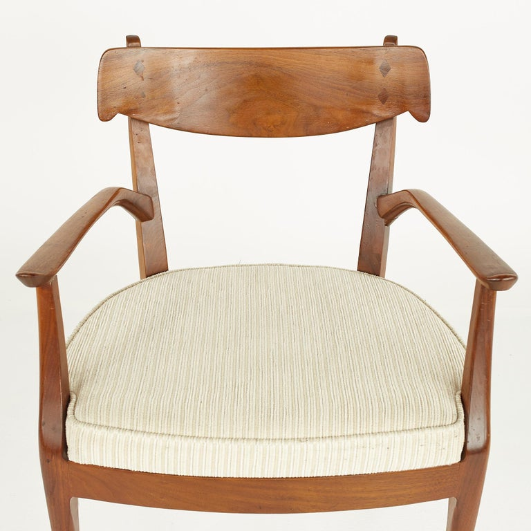 Kipp Stewart for Drexel Mid Century Walnut Dining Chairs - Set of 6 For Sale 11