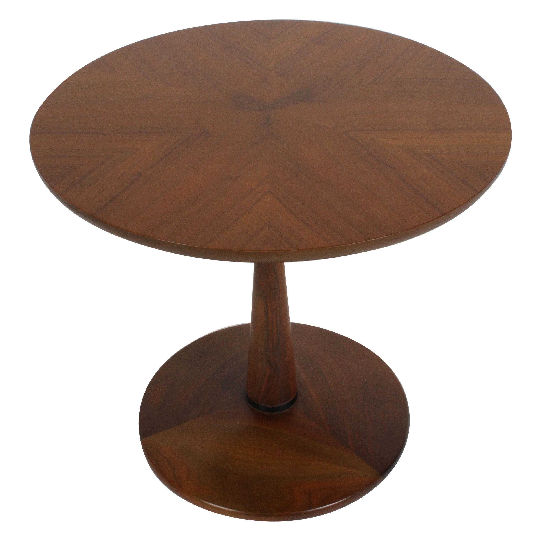 Kipp Stewart for Drexel Mid-Century Modern Declaration Walnut End or Side Table