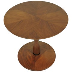 Kipp Stewart for Drexel Mid-Century Modern Declaration Walnut End Table