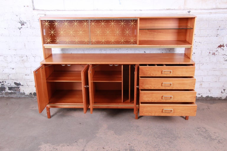 Kipp Stewart for Drexel Sun Coast Cherrywood Sideboard Credenza, 1959 In Good Condition For Sale In South Bend, IN