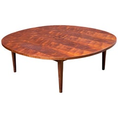 Kipp Stewart for Drexel Walnut and Rosewood Inlay Coffee Table