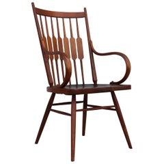 Kipp Stewart for Drexel Walnut Armchair