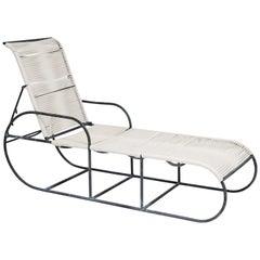 Kipp Stewart for Terra of California Bronze Adjustable Outdoor Chaise, 1960s