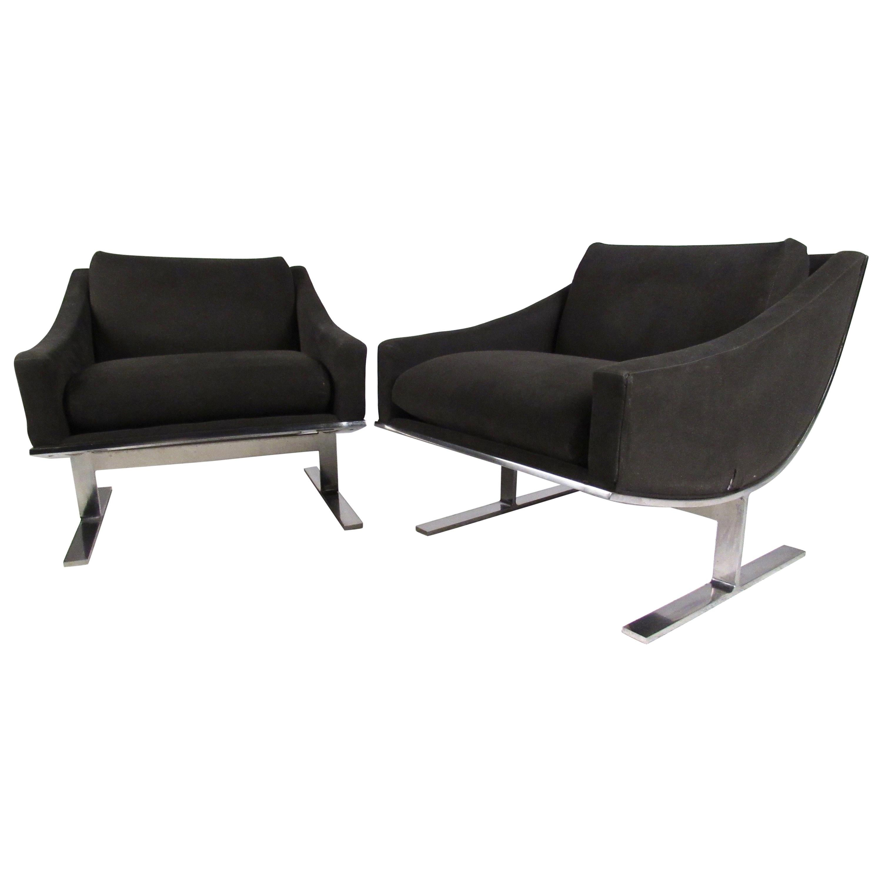 Kipp Stewart Modern Lounge Chairs By Directional For Sale