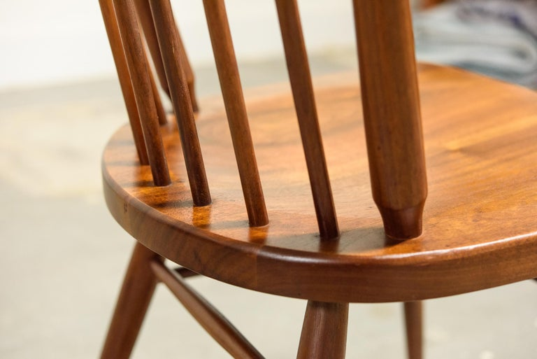 Kipp Stewart Set of Six Centennial Dining Chairs for Drexel, 1950s, Signed For Sale 8