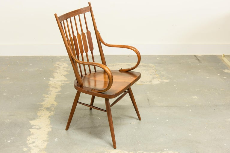 Mid-Century Modern Kipp Stewart Set of Six Centennial Dining Chairs for Drexel, 1950s, Signed For Sale