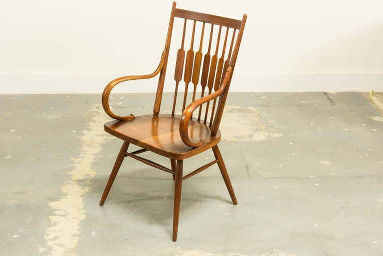 American Kipp Stewart Set of Six Centennial Dining Chairs for Drexel, 1950s, Signed For Sale