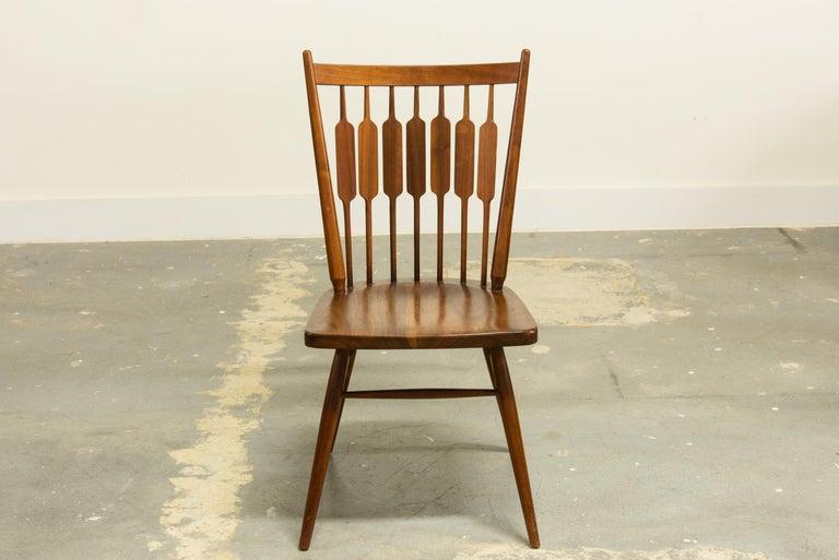 Veneer Kipp Stewart Set of Six Centennial Dining Chairs for Drexel, 1950s, Signed For Sale