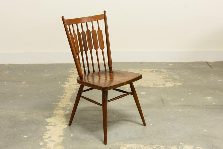 Kipp Stewart Set of Six Centennial Dining Chairs for Drexel, 1950s, Signed In Good Condition For Sale In Los Angeles, CA
