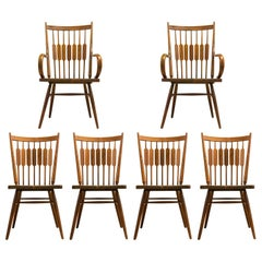 Kipp Stewart Set of Six Centennial Dining Chairs for Drexel, 1950s, Signed