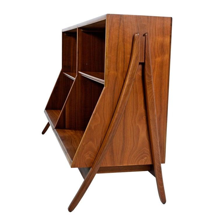 Mid-Century Modern Kipp Stewart & Stewart MacDougall  Walnut Drexel Declaration Bookcase Cabinet