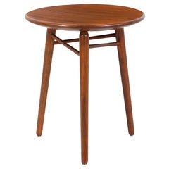 Kipp Stewart Tri-Leg Walnut Side Table for Winchendon Furniture