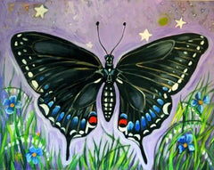 Black Butterfly, Original Painting