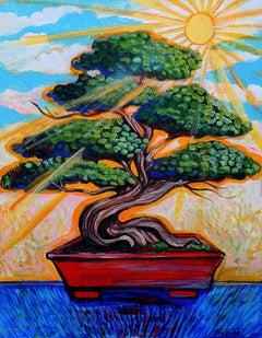 Morning Sun Bonsai, Original Painting