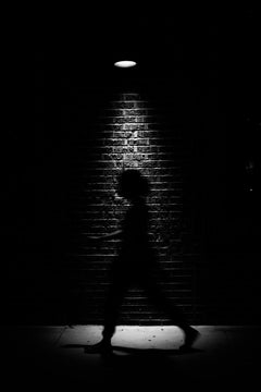 Ghost, Chicago, Silhouette of a Woman, Black and White Photograph, Framed