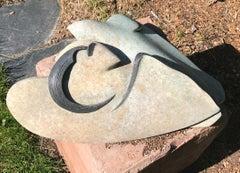 Together by Kirk Tatom, bronze bird sculpture, deco, bronze, patina, edition