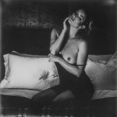 After midnight - Polaroid, Black and White, Women, 21st Century, Nude
