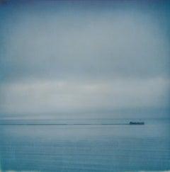 Almost Blue - Contemporary, Polaroid, Landscape, Color, Landmark, Salton Sea