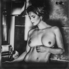 Blinded - Polaroid, Black and White, Women, 21st Century, Nude