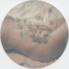 Blue Moon Rose (50x50cm) 21st Century, Polaroid, Nude Photography, Contemporary