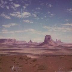 Dalí was here (50x50cm) - 21st Century, Polaroid, Landscape, Color, Contempora