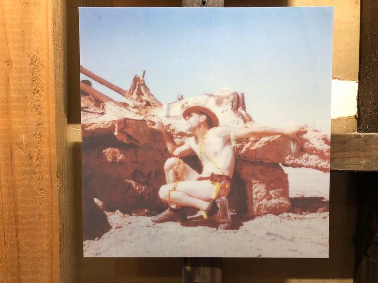 Deliverance - Contemporary, Nude, men, Polaroid, 21st Century - Gray Nude Photograph by Kirsten Thys van den Audenaerde