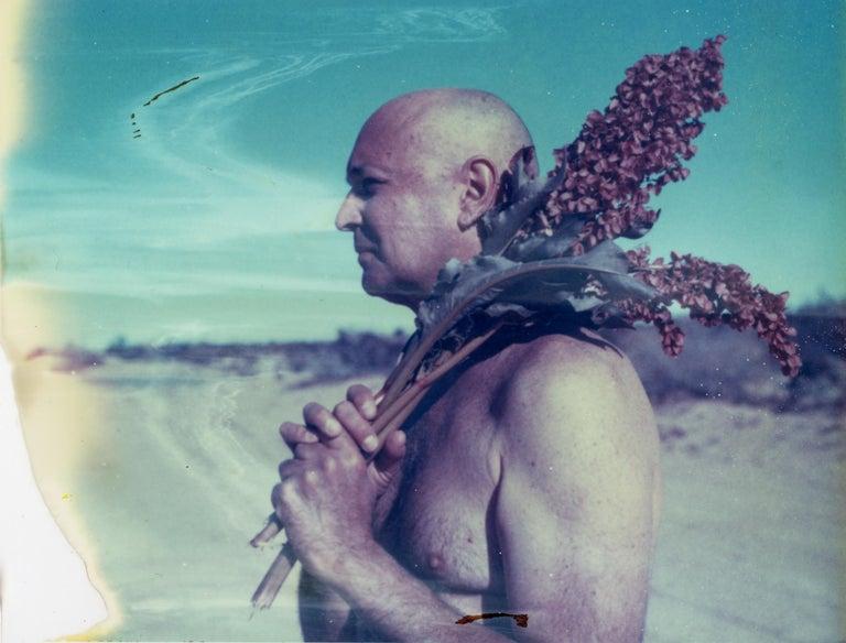 Kirsten Thys van den Audenaerde Portrait Photograph - Desert Visions - Contemporary, Portrait, Men, Polaroid, 21st Century, Nude