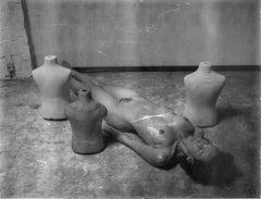 Flat -Contemporary, Polaroid, Black and White, Women, 21st Century, Nude