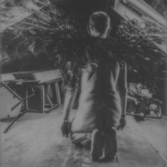 Kneel - Contemporary, Nude, Men, Polaroid, 21st Century