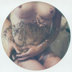 Lap Dance with Light, 21st Century, Polaroid, Nude Photography, Contemporary
