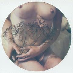 Lap Dance with Light (50x50cm) - 21st Century, Polaroid, Nude, Contemporary
