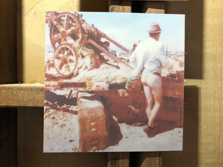 Last man standing - Contemporary, Nude, men, Polaroid, 21st Century - Gray Nude Photograph by Kirsten Thys van den Audenaerde