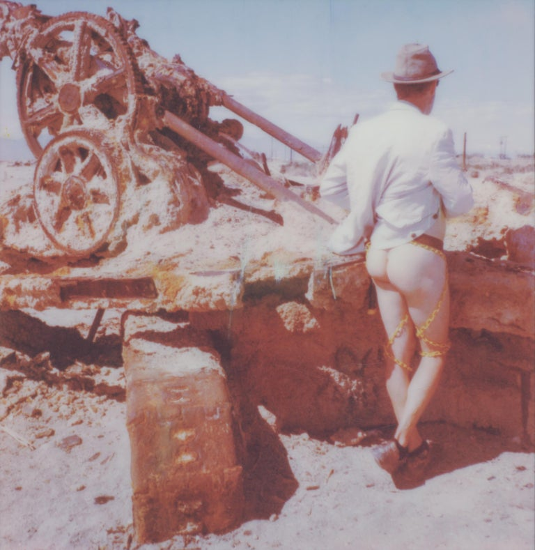 Kirsten Thys van den Audenaerde Nude Photograph - Last man standing - Contemporary, Nude, men, Polaroid, 21st Century