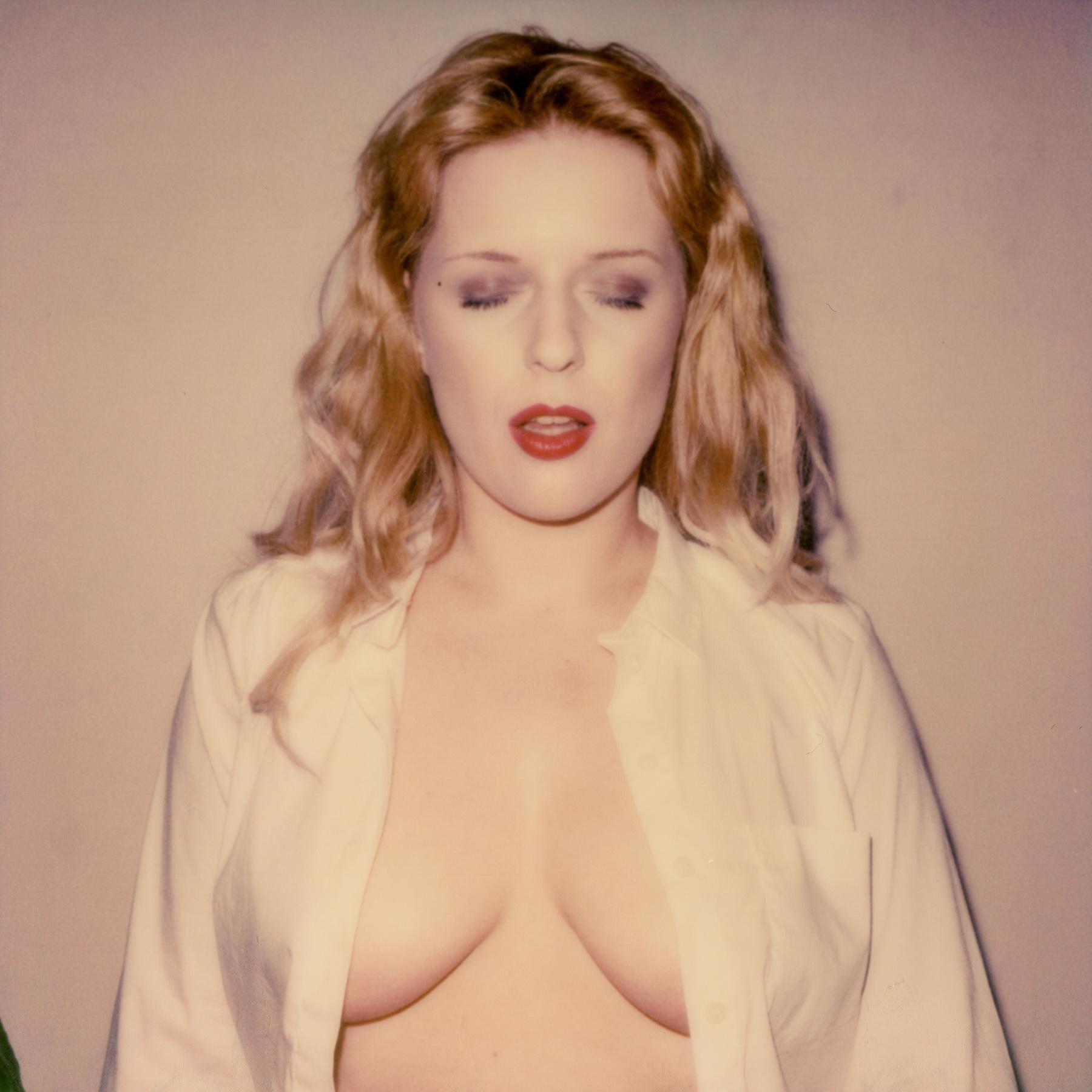 Lip Service - 21st Century, Polaroid, Potrrait, Photography, Contemporary, Color